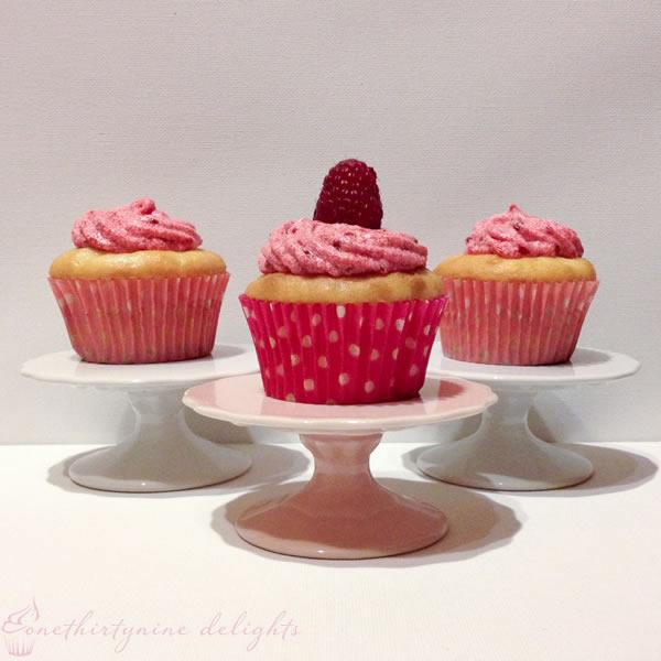 Gluten & Dairy Free Vanilla Raspberry Cupcake