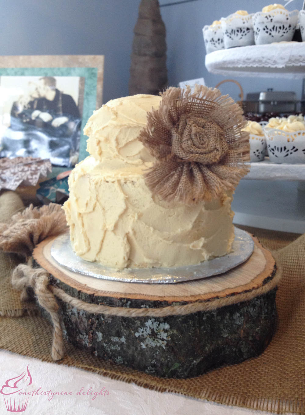 Whipped Rustic Wedding Cake