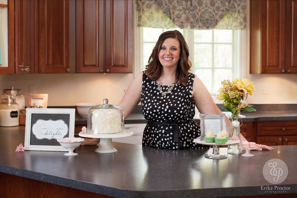 Above: Stephanie, the owner and baker at One Thirty  Nine Delights.  Photo: Erika Proctor Photography