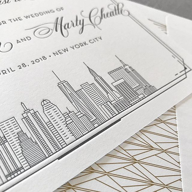 I want to be a part of it, New York, New York 🎶. . . . . #letterpresslove #letterpress #customdesign #weddinginvitation #weddinginvitations #wedding #weddings #weddingideas #weddinginspiration #weddinginspo #ido #thatsdarling #pursuepretty #dailydoseofpaper #phillybride #phillybrideguide #weddingdetails #engaged #love #bridetobe #phillywedding #beautiful #custominvitations #flashesofdelight #newyorkwedding #gettingmarried #nycwedding #nycbride