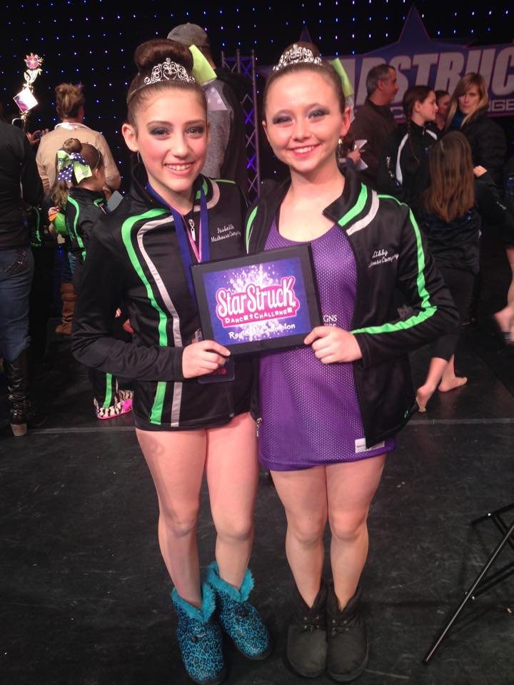 Top Overall Advanced Junior Duo Libby and Isabelle