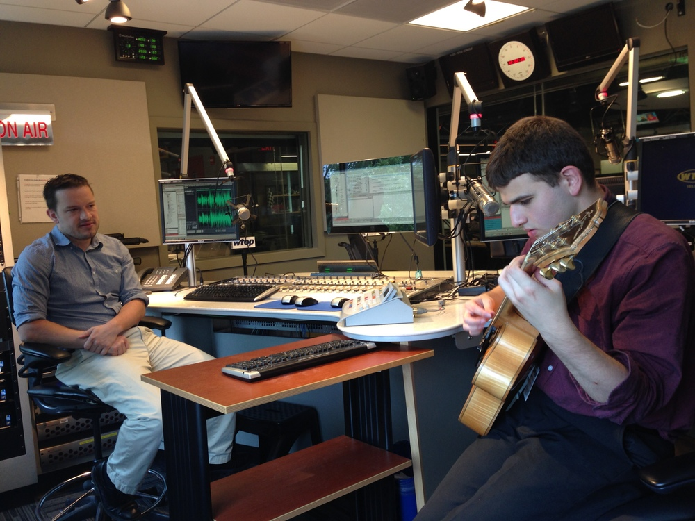This is a photo from a June 10, 2015 interview at WTOP radio studio with Mr. Jason Fraley.