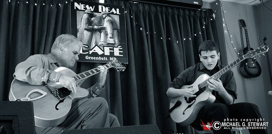 Playing with Steve Abshire at the New Deal Cafe in Greenbelt, MD