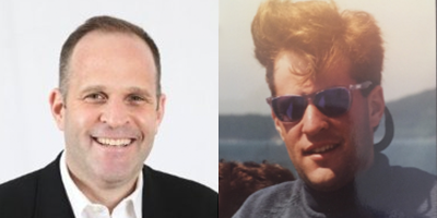 Left: Present-day Lee. Right: Circa 1986