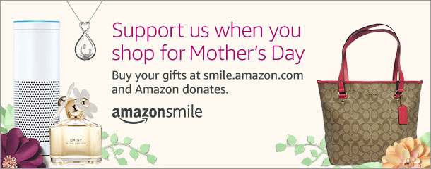 Support us when you shop!#StartWithaSmile at http://smile.amazon.com/ch/52-2168980and Amazon donates.