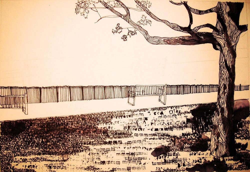 Pen, ink illustration