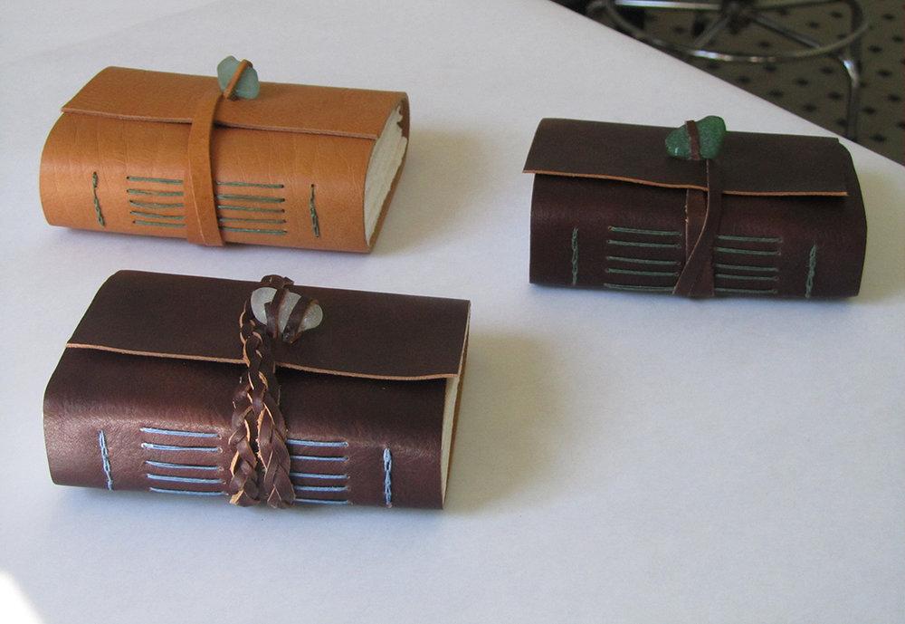 Long stitch bindings.