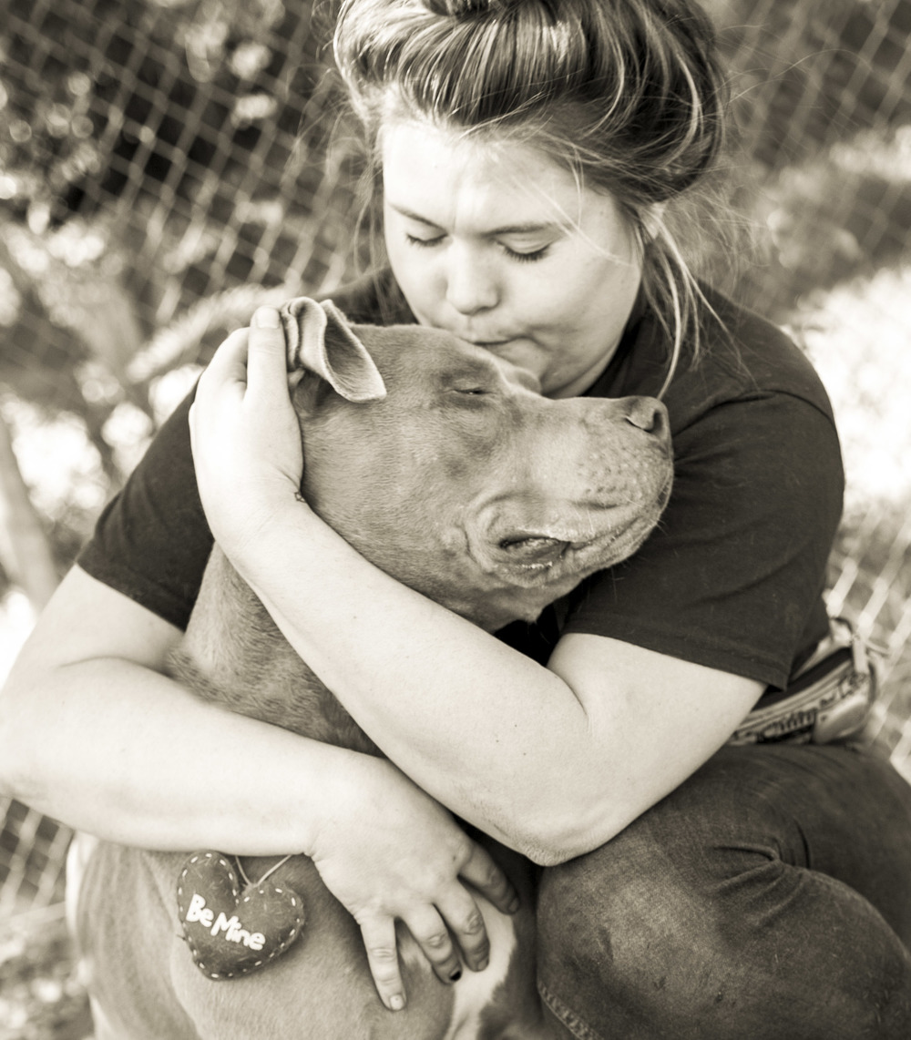 Volunteer Chelsey and Kilo