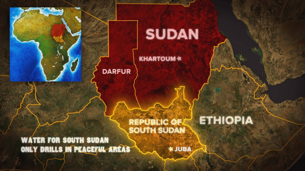 Downloadable fundraiser support materials water for south sudan where we drill map graphic gumiabroncs Image collections