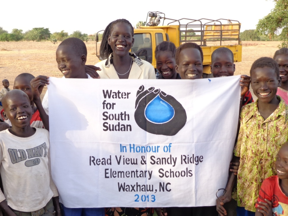 US students in North Carolina raised funds to sponsor a well.