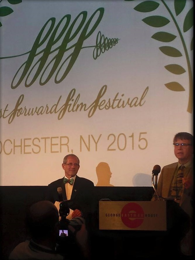 Filmmaker jeffrey meads accepts award for strongest call to action.
