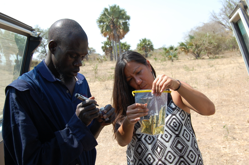 WFSS Board member angelique stevens tests water during well evaluation survey.