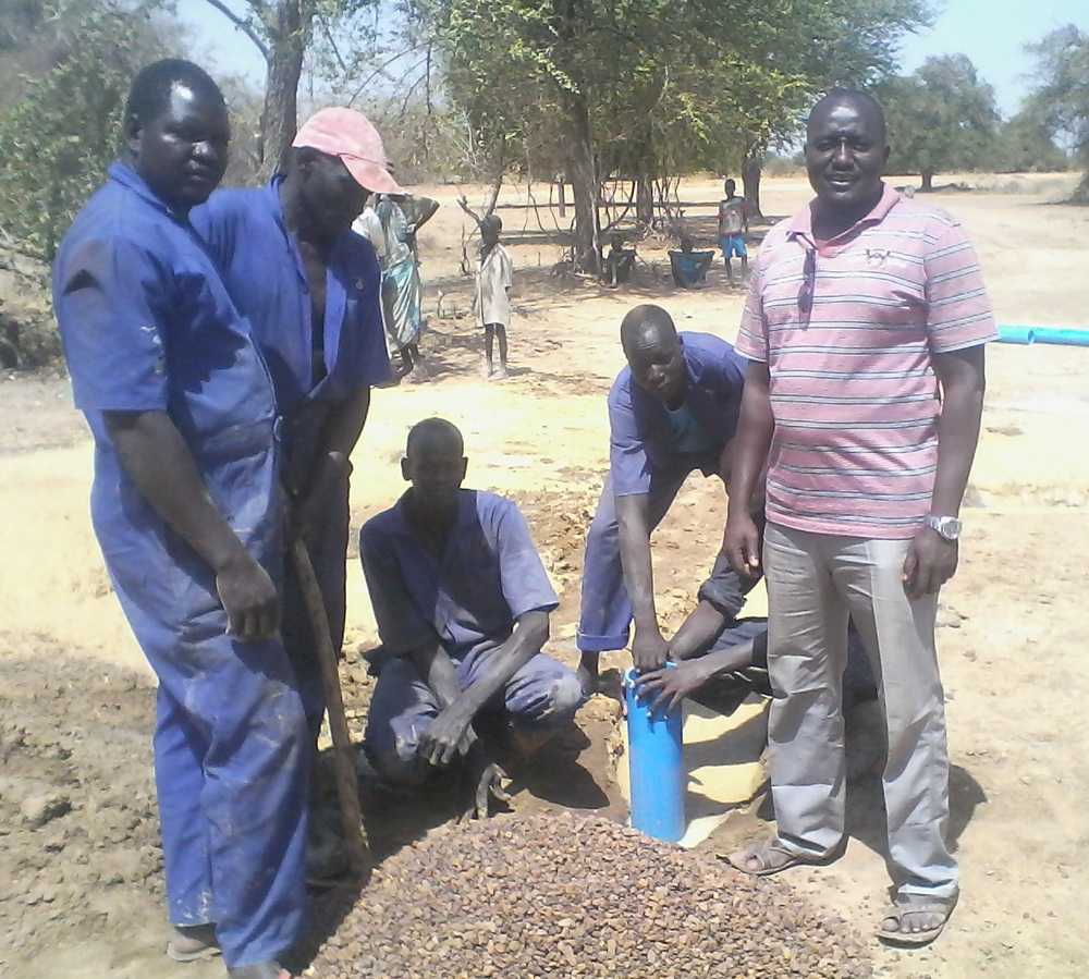 wfss team works on new well installation