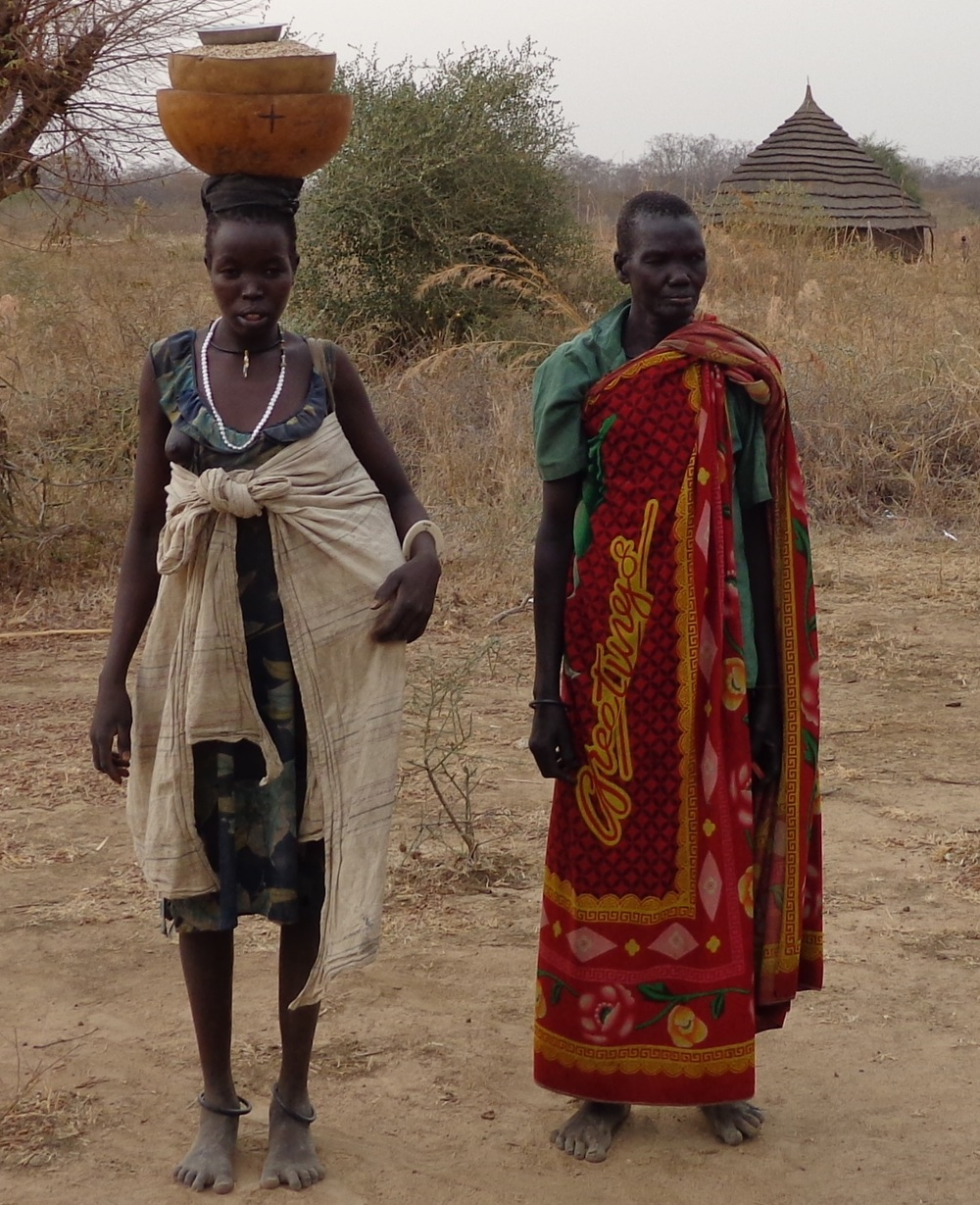 Women walking for water in south sudan