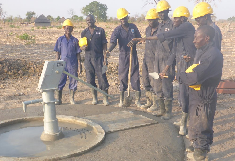 WFSS DRILLING TEAM COMPLETES THE FIRST WELL OF THE 2017 SEASON IN Lith Angui VILLAGE IN WAU STATE.