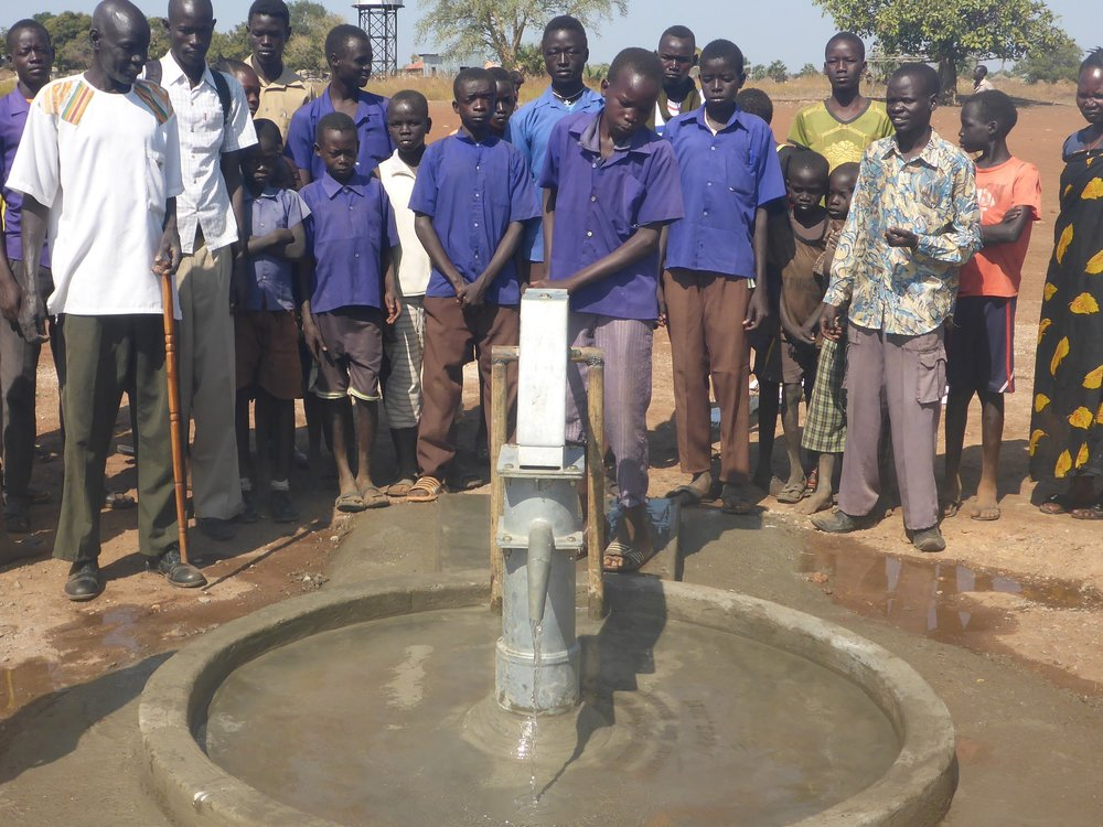 Well drilled at Zagalona School in Wau.