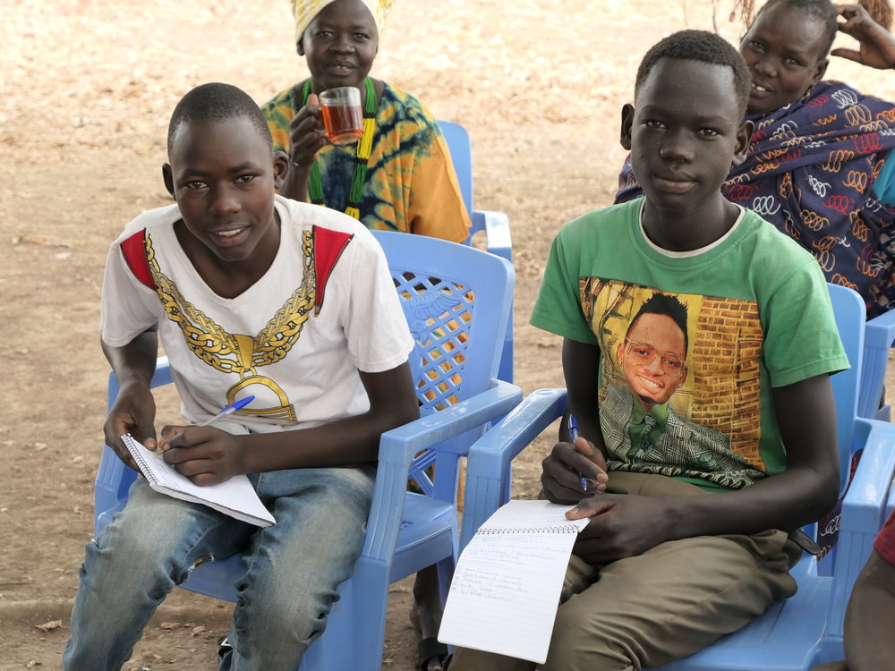Marko and Bantino received hygiene training in Majok Kuel village in Aweil State.