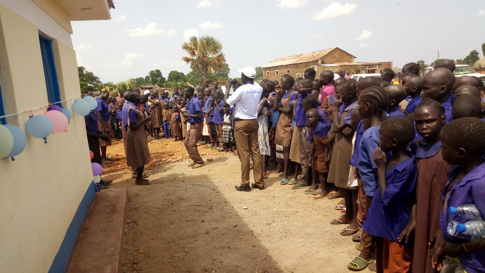 The Zogolona School community welcomed the opening of the new latrine.