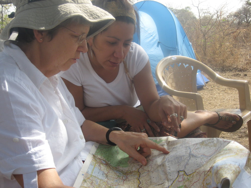 Nancy Frank and board member Angelique Stevens in South Sudan, 2008