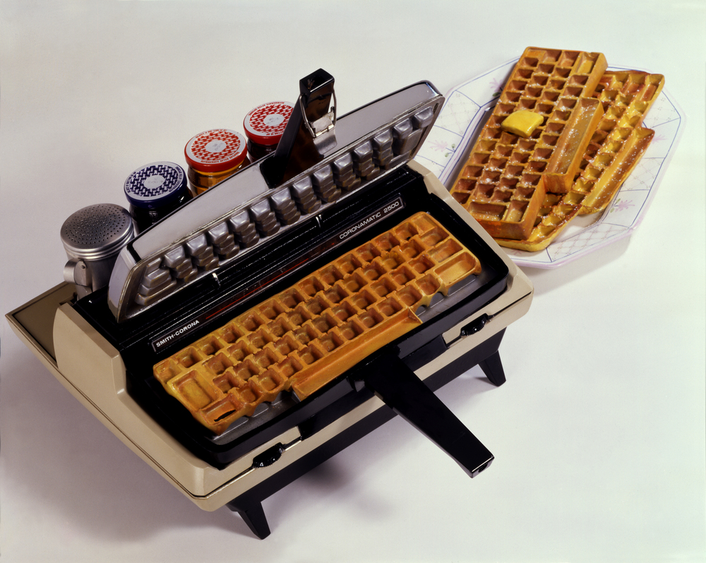 The original Corona-Matic Typewriter Waffle Iron