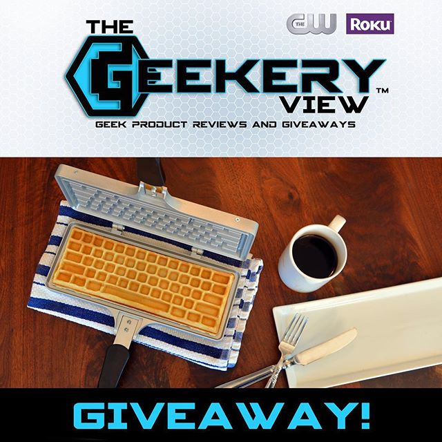 @thegeekeryview is giving away The Keyboard Waffle Iron! To enter: 1-LIKE the Geekery View page 2- COMMENT your favorite waffle topping 3-SHARE with your tech & food friends! Winner will be announced LIVE on July 9th 5pm (mst) #geekeryview #thegeekeryview #thecw #episode10 #giveaway #contest #keyboardwaffles #waffleiron #ctrlaltdelicious
