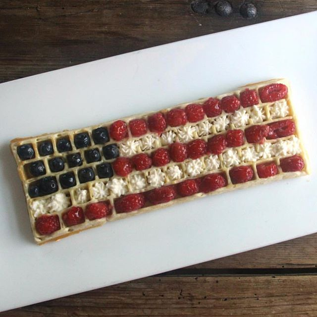 Here's to red, white, and blueberry waffles- Happy 4th everyone! #fourthofjuly #july4th #weekendwaffles #keyboardwaffles #redwhiteandblueberry #waffles #waffleiron #ctrlaltdelicious