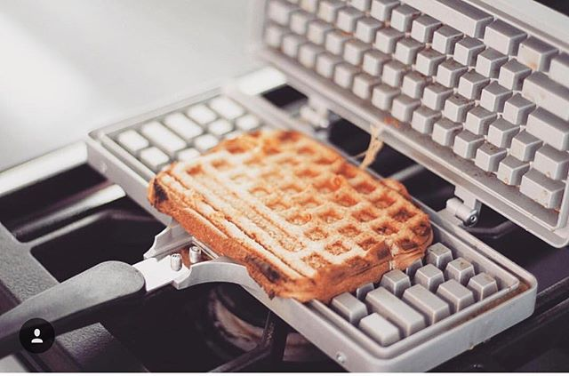 Thanks to @jessiejanedaye for this grilled cheese geekery! Happy Wednesday everyone! #keyboardwaffles #wafflewednesday #wafflewednesdays #grilledcheesesandwich #grilledcheesekeyboard #waffleiron #waffles #sandwich #stovetop #keyboard #ctrlaltdelicious