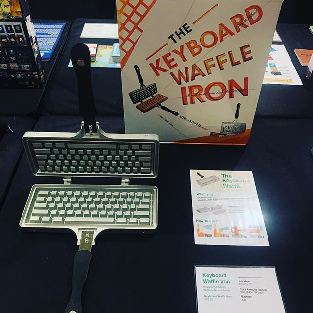 Excited to be part of the @wtpstore pop-up in St Louis, MO! This will soon be a permanent retial store that sells only crowd funded products! #keyboardwaffles #brickandmortar #stlouis #wethepeople #wtpstore