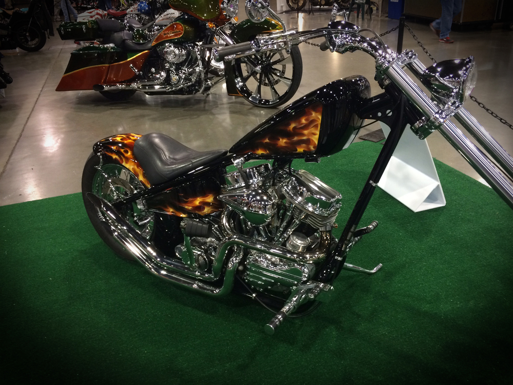 Loss Flames - Gary's other bike in the show