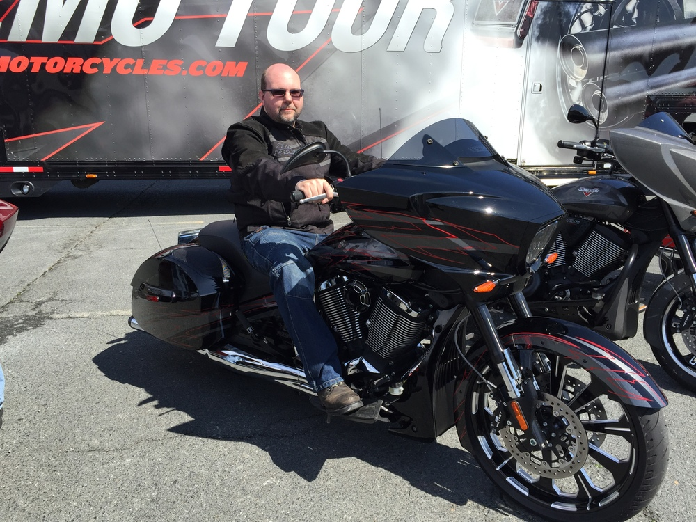 Oh yeah, the new Victory Magnum X-1 and it is a sweet ride!