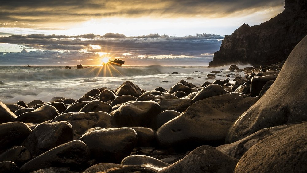 Sunrise On a Rocky Beach