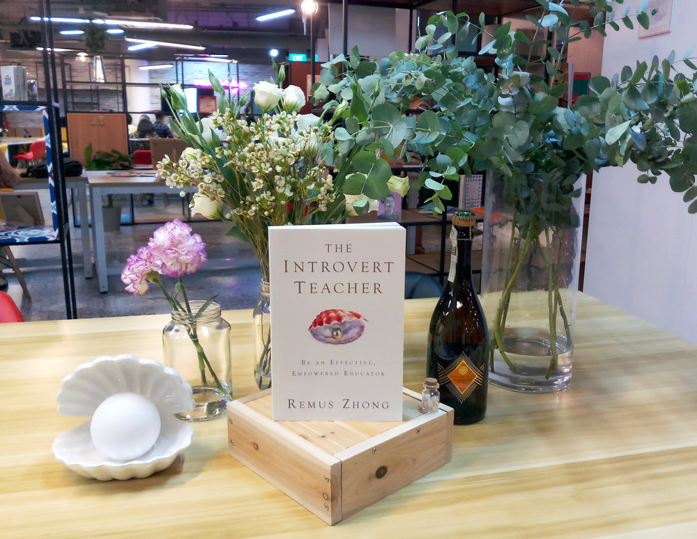 The Introvert Teacher Book Launch - Setup Picture