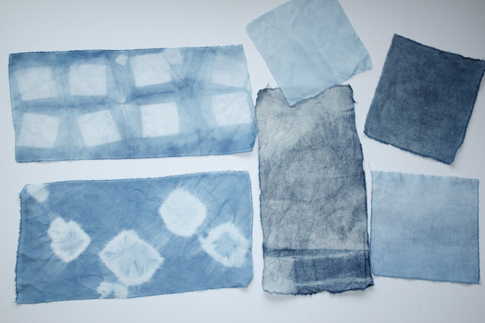 Textile Arts Center Indigo Dyeing After Workshop NYC