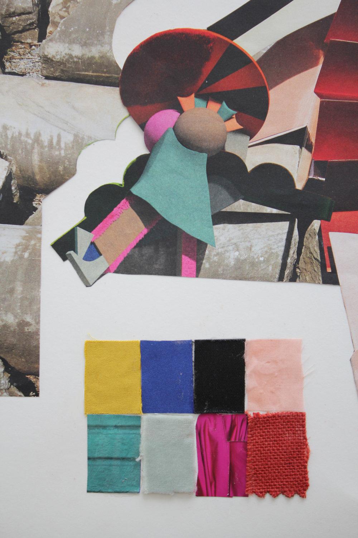 color study missoni gouache