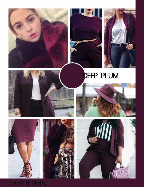 DEEP PLUM PLUS SIZE COLOR REPORT SOPHIA N. AHMAD
