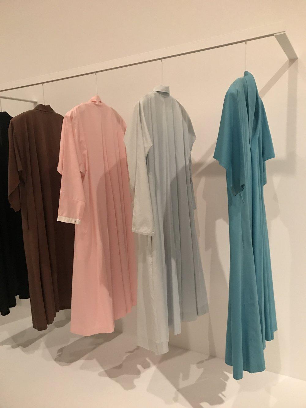 O'Keeffe's wrap dresses from Georgia O'Keeffe: Living Modern, Brooklyn Museum.