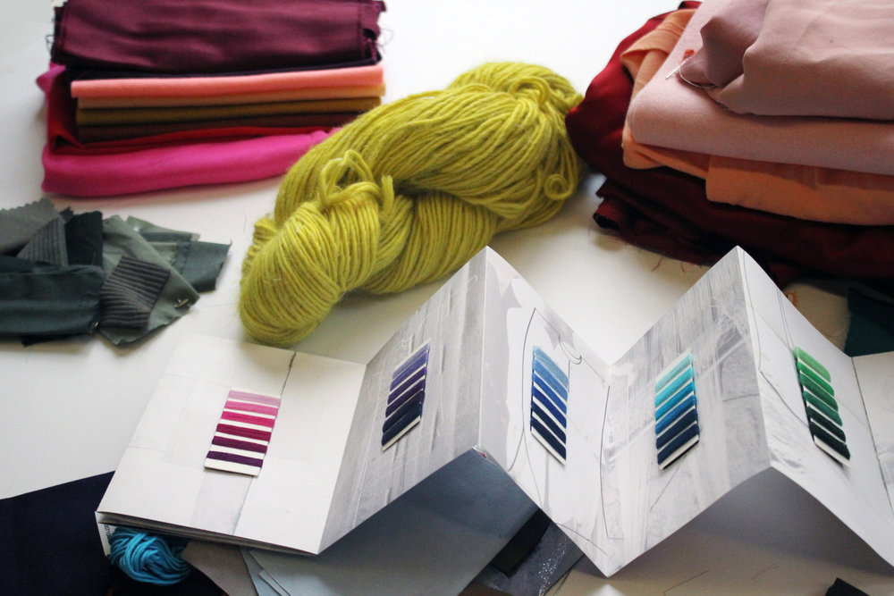 Fabrics, yarns, threads, swatches - color reference tools come in many forms.