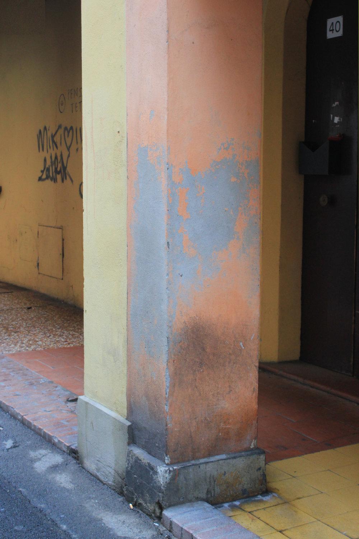 Bologna Italy Orange Yellow Paint