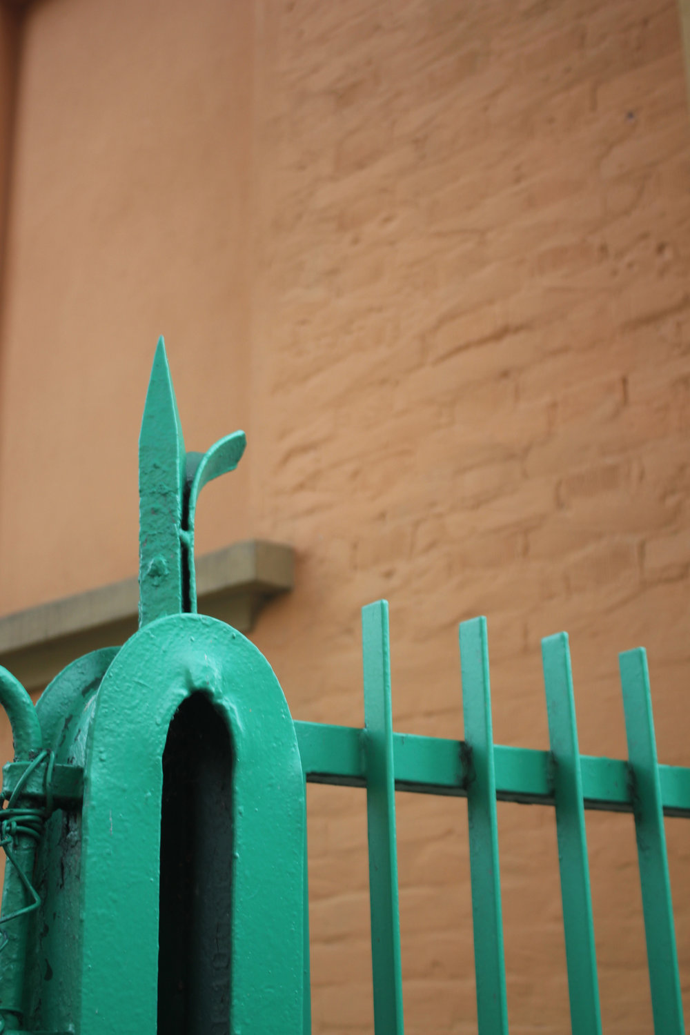 Bologna Italy Green Fence Color Palette