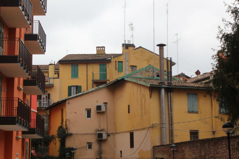 Bologna Italy Yellow Orange Buildings