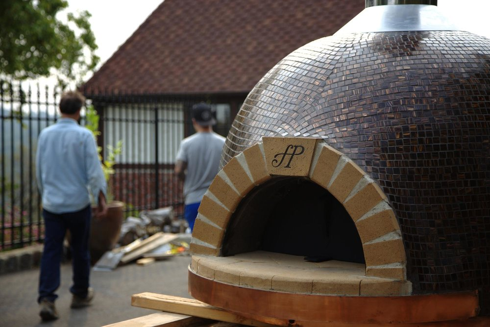 Forno Piombo pizza oven being delivered in Auburn, CA