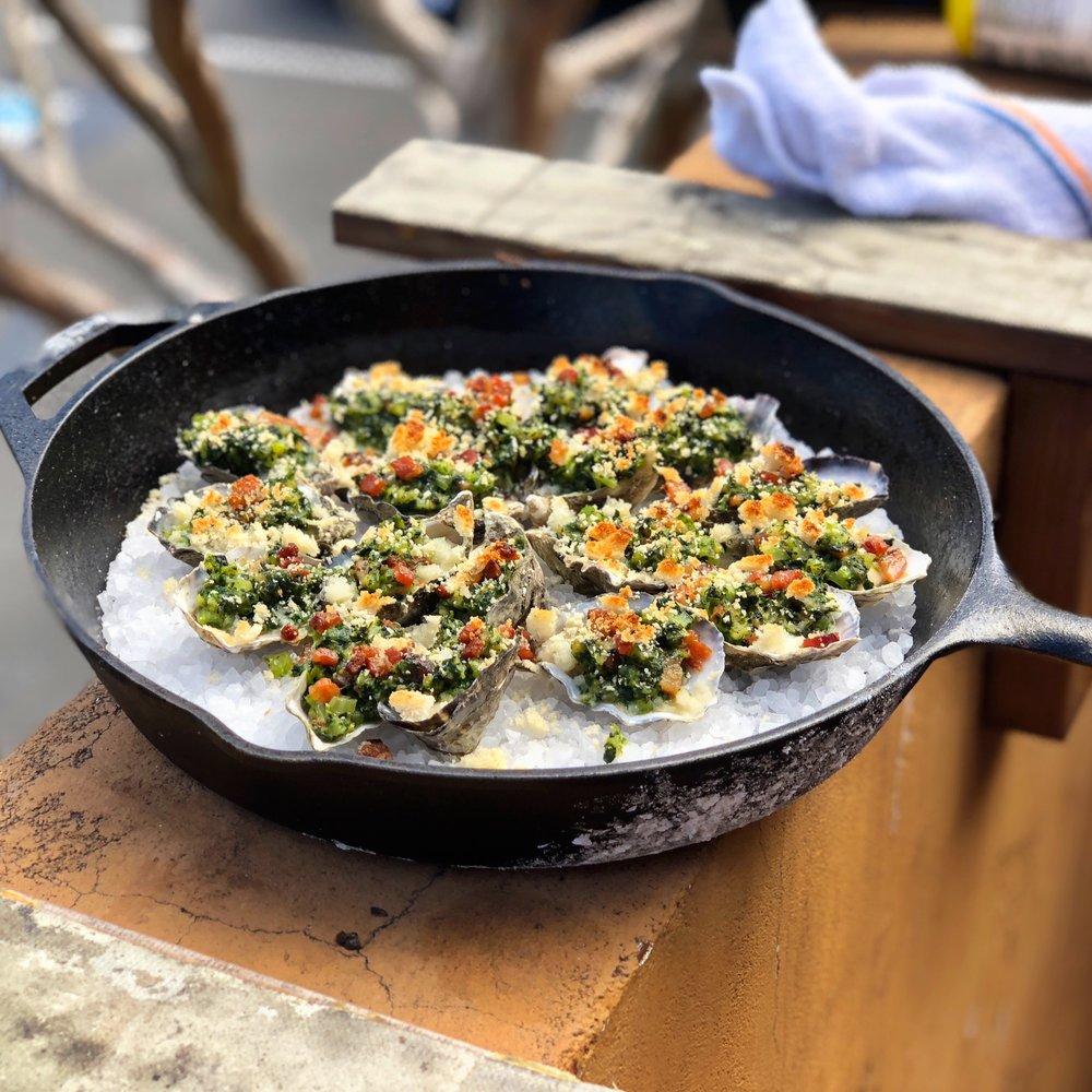 Oysters Rockefeller -