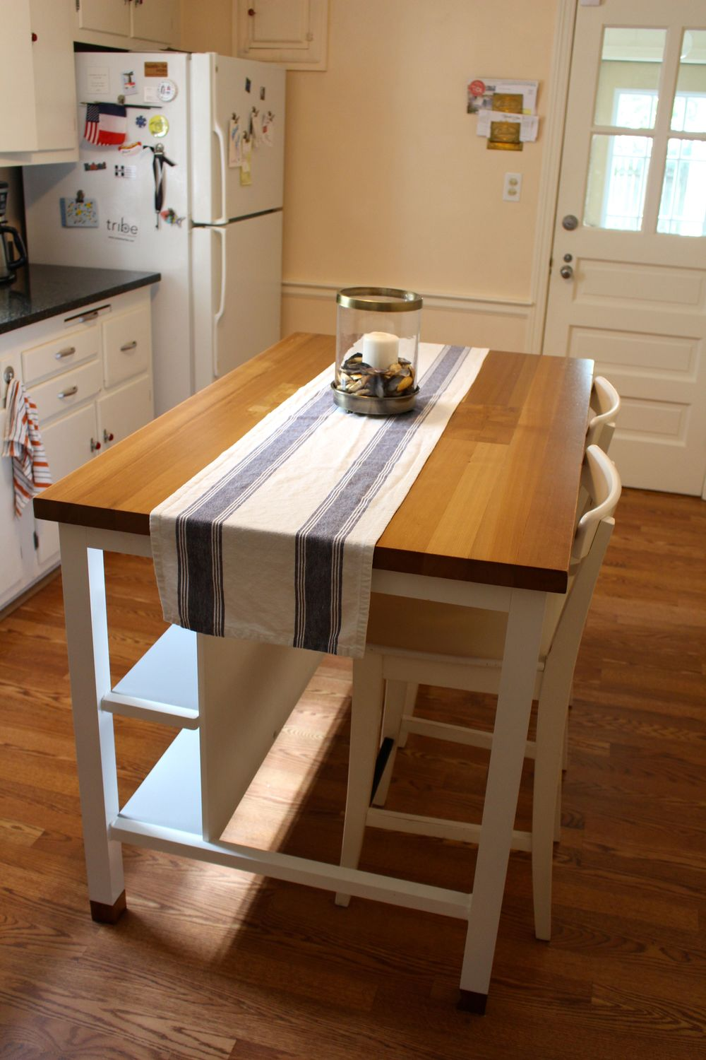 We found a handmade version of the kitchen island I wanted from IKEA - an hour away from us.