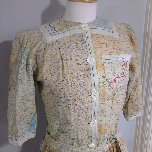 1944 map dress/housecoat