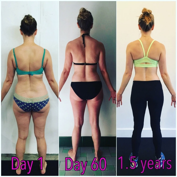 "When our 6-week Transformation was up, I knew I'd had physical changes because of how my clothes were fitting, but I had no idea how many inches I had lost. On top of that, I felt stronger than I ever had and was finally feeling like my body was working for me! Maybe the best part of the whole thing was when I realized that I didn't know if the 6-weeks was over or if we had one more, because I was not counting the days until it was over and I could ""stop"". That was when it really hit me that I'd finally made that whole sustainable lifestyle change that I thought was impossible/sort of bullshit until it happened to me. That was in November of 2015. At that point, I had lost 12 pounds and 6.5 inches in the 6-week challenge! I was terrified that the end of the transformation, especially with the upcoming holiday season, that I would slowly revert back…but it didn't! - Brit M"