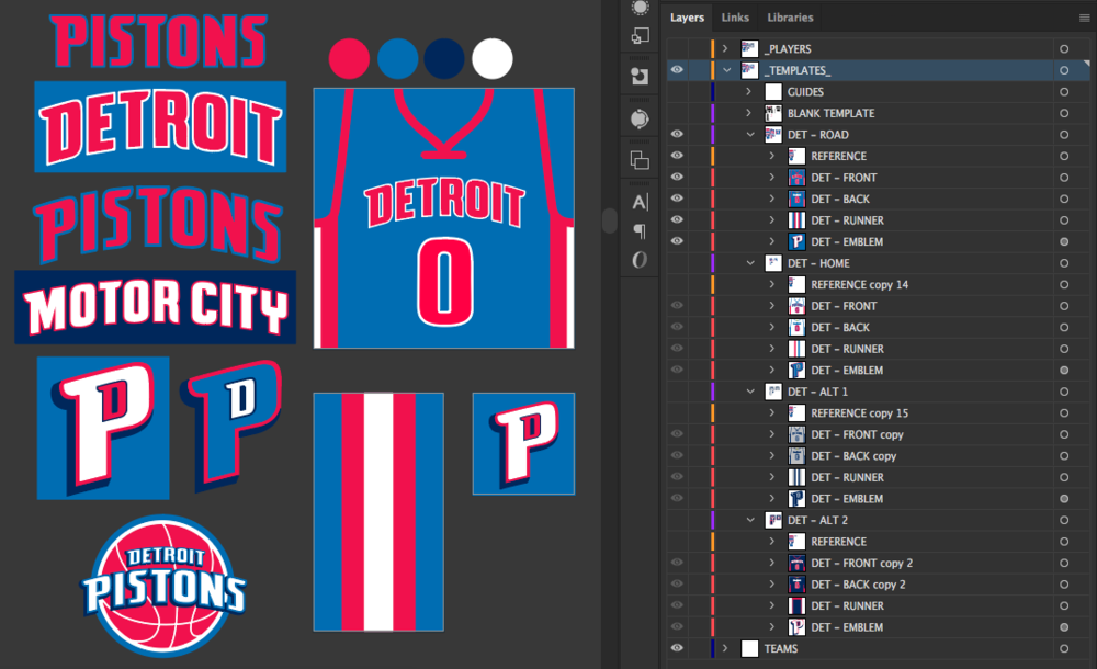 Creating an Andre Drummond (Pistons) jersey.