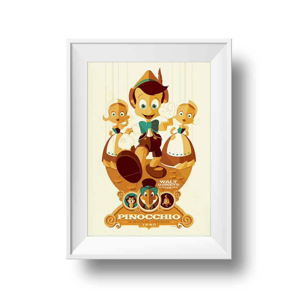 Pinocchio | Tom Whalen | 24 x 36