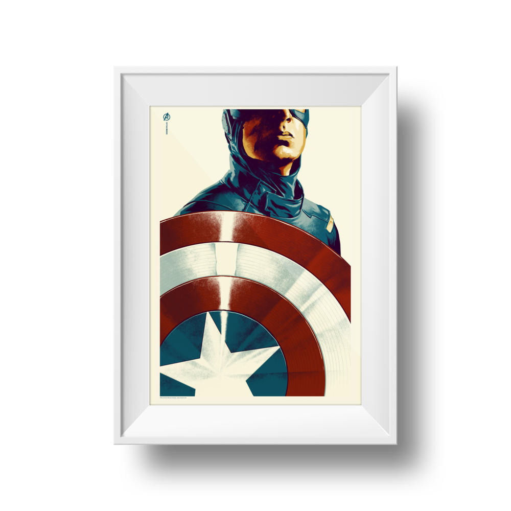 Captain America | Phantom City Creative | 24 x 36