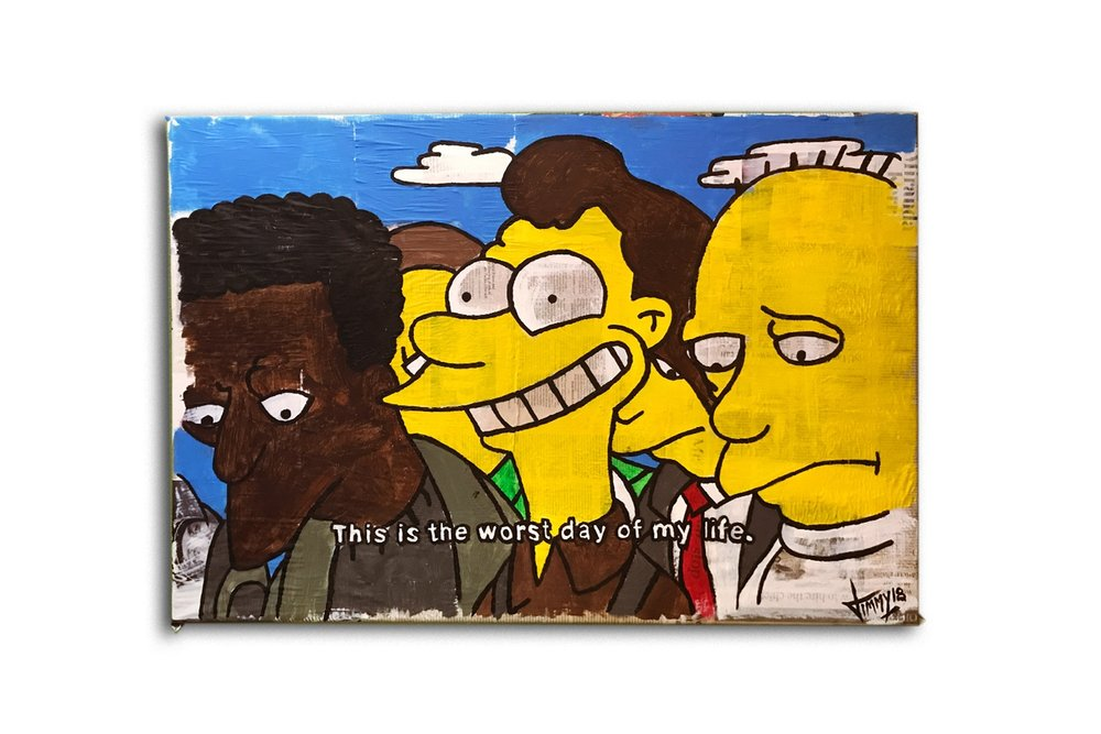The simpsons - I paint screenshots from the show.