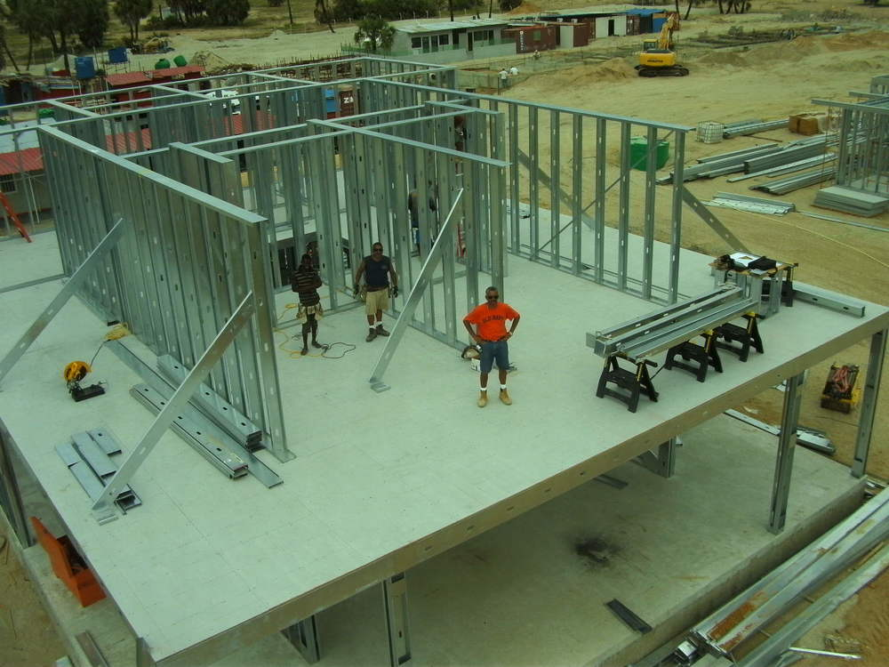 UNIT 1) 2 level steel frame house in Mussola Island, Angola.JPG